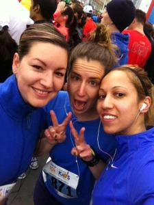Magdi, me and Lysh all matchy matchy pre-race